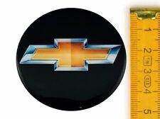 CHEVROLET ★ 4 Stück ★ SILIKON Ø50mm Aufkleber Emblem Felgenaufkleber Radkappen