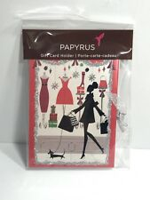 PAPYRUS Gift Card Holder Greeting Christmas Holiday Fashion Girl Shopping
