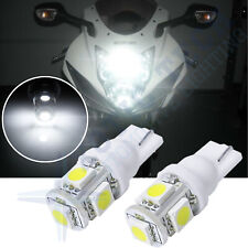 Xenon White 5-SMD 2825 168 194 LED Bulbs For Motorcycle Bike Parking Lights