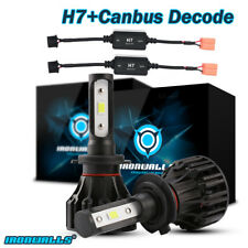 H7 Cree LED Headlights Kit 1400W 210000LM Conversion Bulb 6000K + Canbus Decoder