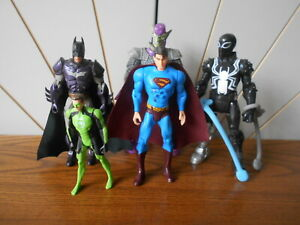 GREEN GOBLIN, VENOM, BATMAN, SUPERMAN, GREEN LANTERN action figure lot MARVEL/DC