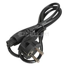 1m EU 3 Prong 2 Pin AC Laptop Power Cord Adapter Cable Black Supply PC Desktop
