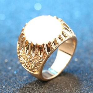 Ring Gold With Opal For Men Women Wedding Fashion Jewelry All Occasion New 2021