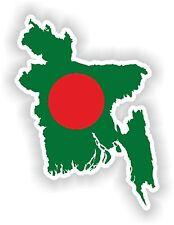Sticker Silueta Bangladesh Mapa Bandera Para Parachoques Guitarra Patineta Tablet