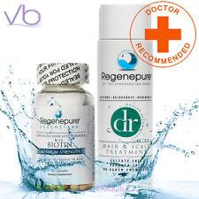 RegenePure DR Hair With Hair Loss Supplement - Biotin Maximum Strength Capsules