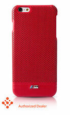 "Official BMW iPhone 6/6s Plus 5.5"" Leather ( BMHCP6LMPERE) Hard Case - Red"