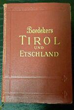 Baedeker TIROL und ETSCHLAND, Handbuch für Reisende 1929