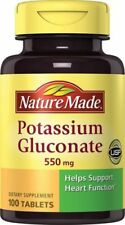 Nature Made Heart Muscle Potassium Gluconate 550 mg Tablets 100 Tablets