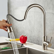 Stainless Steel Kitchen Faucet Pull Down Sprayer Single Handle Sink Mixer Tap