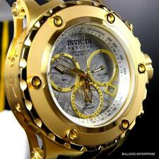 Invicta 52mm Reserve Subaqua Specialty Meteorite Gold Plated Swiss Mov Watch New