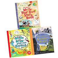 Usborne Write Your Own Series 3 Book Collection Set,Write Your Own Storybook NEW
