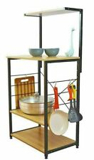 4 Tier Kitchen Shelf Rack Table Wooden 23.62 L x 15.75 W x 48.43 H Inches