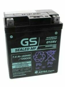 Motorcycle Battery Original GS GTZ8V (YTZ8V) Honda Pcx 125 150 Esp 2012 - 2016