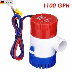 12V 1100 GPH Elektrische Bilgenpumpe Bilgepumpe Lenzpumpe Wasserpumpe Pumpe