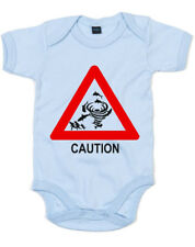 Caution Sharknado Printed Baby Grow Casual Top Romper Cute Newborn Gift