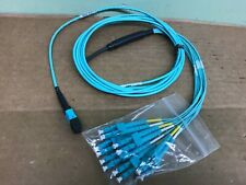 CORNING MTP FEMALE to 12 LC Breakout Fiber Optic Cable Patch Cord  12 FT