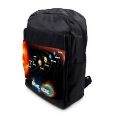 Personalised Backpack SOLAR SYSTEM PLANETS School Laptop Bag Sports Black SH240