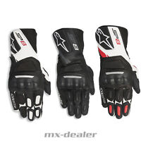 2020 Alpinestars SP-8 V2 Leder Handschuhe Supermoto Road Sport Touring Racing