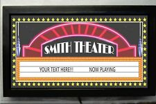 MOVIE THEATER SIGN -LED -PERSONALIZED HOME THEATER HOME CINEMA