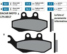 174.0017 PLAQUETTE DE FREIN ORIGINAL POLINI PIAGGIO SUPER HEXAGON 125 GTX