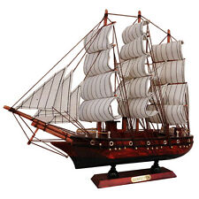 "100% Handmade 13"" Wooden Sailboat Model Ship Model Wood Sailing Boat Pirate Ship"