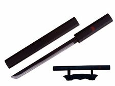 "14"" Fantasy Anime Mini Kusanagi Sword w/ Table Stand - Black Grass Cutting Sword"