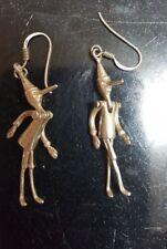 Fine Pinnochio Sterling Silver 3-D earrings  925