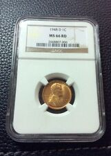 1948-D LINCOLN CENT- NGC MS 66 RD     INV#1001