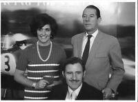 GRAHAM HILL BETTY HILL ROB WALKER LOTUS PERIOD RARE PHOTOGRAPH