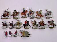 17 alte Zinnfiguren Flachfiguren - Ritter - handbemalt -