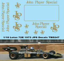 1/18 Lotus 72E 1972 1973 John Player Special Decals TB Decals TBD247