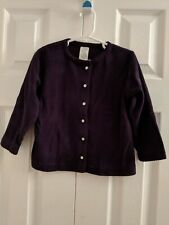 Baby Gap Girls Toddler Purple Button Up Long Sleeve Jacket Size 3X 30-36 Months