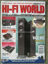 Hi-Fi World April 2019 Kef R5  Dual CS 460 Chord Hugo TT2 M Scaler AE 300