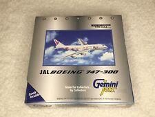 Gemini Jets GJJAL008 JAL B747-300 W/Reg, 1/400 scale, NIB, MIB