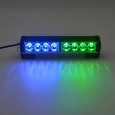8 LED Car Strobe Light Flash Warning Safety Hazard Security Lamp 12V Blue&Green