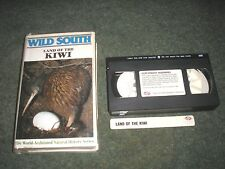 RARE VHS PAL VIDEO-NEW ZEALAND WILD SOUTH LAND OF THE KIWI ACCLAIMED SERIES