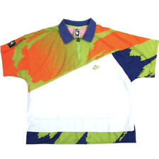 Vintage Nike Challenge Court Agassi Neon Polo shirt Air Tech Tennis 90s