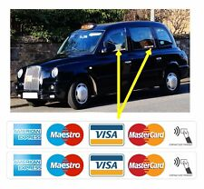 4 x VISA AMEX MASTERCARD CONTACTLESS ACCEPTED STICKERS FOR SHOP TAXI WINDOW EPOS