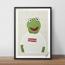 Kermit Supreme INSPIRED WALL ART Print / Poster A4 A3 supreme t THE FROG muppets