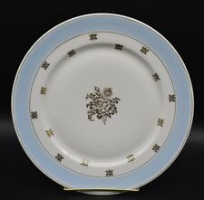 Chas Field Haviland Limoges Dinner Plate Light Blue Gold Stencil Floral Roses