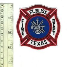 US Army Fort Bliss (HQ - El Paso) TX Texas Fire Dept. patch - NEW!
