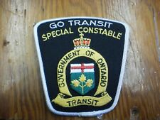 GO Transit Enforcement Unit 1st Version Special Constable Shoulder Flash/Patch