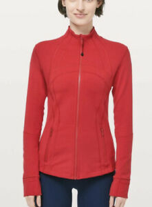 Lululemon Define Jacket Sz 8 Red Forme Yoga Gorgeous Colour! Free Ship