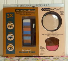 PHYSICIANS FORMULA COVERTOXTEN 50 FACE POWDER & POP EYE SHIMMER STRIPS