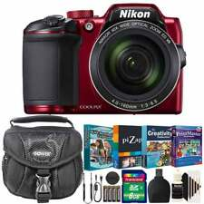 Nikon Coolpix B500 Digital Camera Red with Kids Photo Editing Collection Bundle
