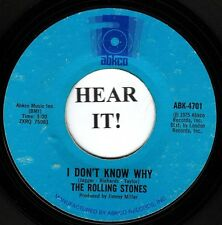 THE ROLLING STONES 45 (Abkco 4701) I Don't Know Why/Try a Little Harder  VG+