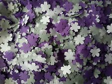 GREY & PURPLE & WHITE FLOWERS  WEDDING THROWING CONFETTI/DECORATION/ 2 HANDFULS