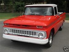 1963 Chevrolet C-10 Pickup Truck, Red/White, Refrigerator Magnet