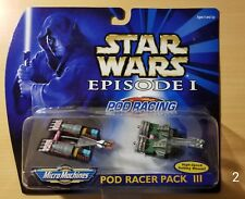 BRAND NEW Micro Machines Star Wars Episode I Pod Racer Pack III