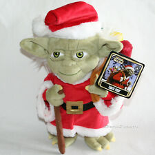 "Star Wars 2016 Christmas Holiday SANTA YODA 9"" Plush Toy Doll DISNEY Park Store"